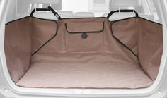 $52.47-$59.99 K&H Quilted Cargo Cover, Tan - The K&H Quilted Cargo Cover is made with 600 denier, vinyl backed nylon for a waterproof barrier that fits in the back of your SUV to protect the cargo area from dirt and debris. The convenient storage pocket for leashes and toys keeps your vehicle organized. And the comfortable quilted area for pets is perfect for sleep or travel. Universal fit with a ...