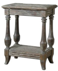 Waxed Limestone Mardonio Side Table