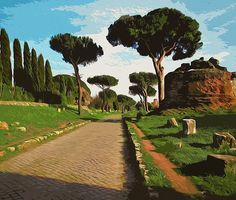 Rome, Appian Way - Wall Tapestries - #Home #Decor #HomeDecor #WallDecor #WallTapestries #Tapestries #Gift #Giftideas #Rome #Italy #RomanEmpire #AncientRome