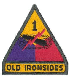 1st armored division patch vietnam | 1ST ARMORED DIVISION SHOULDER PATCH [EC-72273] - $8.00 : Hat n Patch ...  pined this for a friend