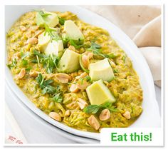 Fast Fat Burning Meals... Sweet Curry Noodles Serves 2 1 large zucchini 1/2 small navel orange, peeled 1 cup of orange cherry tomatoes 2-3 tablespoons tahini 6 leaves fresh basil 1/4 tablespoons turmeric 1/2 tablespoon curry powder Pinch of cumin Fresh sea salt to taste 1 avocado, peeled and diced 2 tablespoons chopped peanuts (or sliced almonds) Directions: Cut zucchini into noodles with a spiralizer. Place orange, cherry tomatoes, tahini, 3 leaves fresh basil, turmeric, curry powder, and…