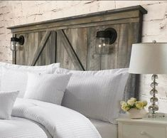 Diy King Size Headboard, Build A Headboard, King Size Bed Frame, White Headboard, Full Headboard, Queen Headboard, Shiplap Headboard, Headboard Decor, Door Headboards