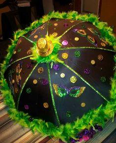 Second Line Umbrella- Mardi Gras