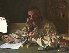 Joaquín Sorolla y Bastida (Spanish, 1863-1923)  Portrait of Dr. Simarro at the Microscope  1897