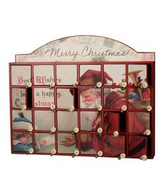 <p+style='margin-bottom:0px;'>What's+better+than+12+days+of+Christmas?+How+about+24!+This+vintage-inspired+advent+calendar+comes+with+two+dozen+petite+compartments+that+can+be+filled+with+treats+and+treasures.+Kids+delight+in+discovering+a+new+prize+each+day+as+they+count+down+to+Christmas.<p+style='margin-bottom:0px;'><li+style='margin-bottom:0px;'>Approx.+18.13''+W+x+14.25''+H+x+3.38''+D<li+style='margin-bottom:0px;'>Wood+/+paper+/+metal<li+style='margin-bottom:0px;'>Imported<br+/>