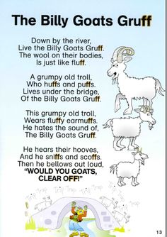 The Billy Goats Gruff Fairy Tale Crafts, Fairy Tale Theme, Fairy Tale Activities, Literacy Activities, Reading Activities, Teaching Reading, Learning, Teaching Ideas, Traditional Tales