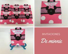 Invitaciones de minnie Minnie, Creative Crafts, Invitations, Creativity