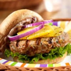 Zesty Turkey Burgers from Campbell's Kitchen