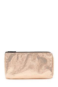 Crackled Metallic Makeup Bag