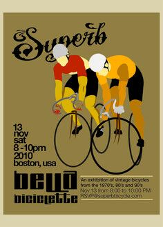 Love this poster!  http://superbbicycle.com/wp-content/uploads/2010/11/Superb-Flyer-Trackstand-Belle-Biciclette575.jpg