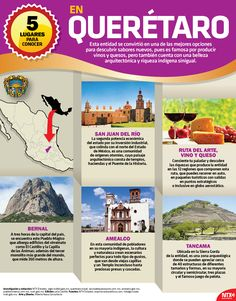 Si eres fan del vino y el queso, deberías visitar el estado de Querétaro.#InfografíaNTX