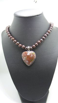 Handmade Bloodstone beaded necklace with by FierStaarGems on Etsy