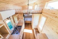 Plenty of natural light - Roanoke by Tumbleweed Tiny House