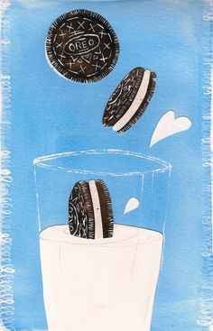 Oreos and Milk...Life's little pleasures!