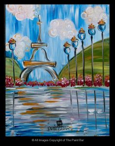 Daytime in Paris Painting - Jackie Schon, The Paint Bar