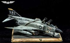 Military Jets, Military Aircraft, Air Fighter, Fighter Jets, Scale Models, F14 Tomcat, F4 Phantom, Airplane Car, Scale Art