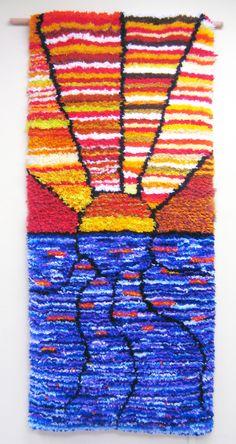 """2010 JC In-House Award Winner: Diane Heemskerk for her hooked rug, """"Alberta Sunset"""". Disability Art, Award Winner, Rug Hooking, Awards, Sunset, Rugs, Artist, House, Loom"""