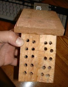 make your own bee house