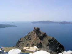 Taxi ferryboat Santorini to Athens Greece