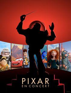Le 22 juin 2014 au Palais des Congrès de Paris, les 13 films du studio PIXAR seront réunis dans un concert-évènement. #Pixar #Concert @Disney FR