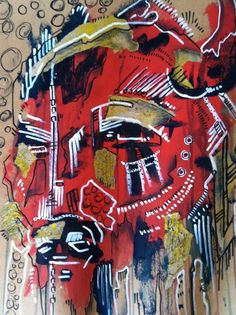 """Red People"" - White Buffalo Art"