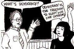 De uitleg wat democratie precies is. Manon