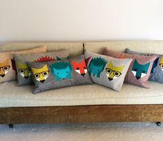 Fox and Hedgehog Pillow 4