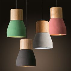 MODERN COLOR CONCRETE PENDANT LIGHTING COUNTRYSIDE CEILING FIXTURE LAMP LIGHT #Unbranded #Contemporary