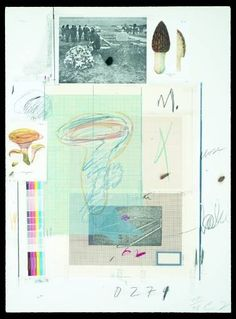 Cy Twombly collage.