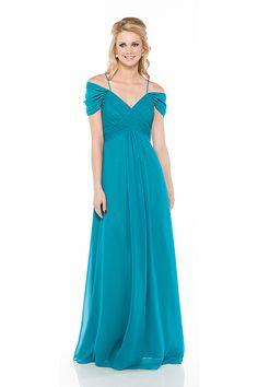 Off the Shoulder Long Bridesmaids Dress