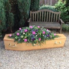 Rosina May flowers in Mangotsfield, Bristol is one of the leading floral design specialists in Bristol with over 20 years of experience. Funeral Caskets, Casket Sprays, Flower Spray, May Flowers, Coffin, Bristol, Flower Arrangements, Woodland, Floral Design