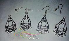 base orecchini  a chandelier di CarmyCrea su Etsy