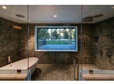 Contemporary Master Bathroom - Full tiles