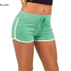 Sport Shorts Soft Casual Cotton Side Split Elastic Waist Short Workout Running Shorts