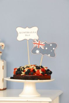 Australian Day Printable by funkytime Aussie Food, Australian Food, Pavlova, Special Day, Special Occasion, Special Events, Australia Day Celebrations, Aus Day, Anzac Day