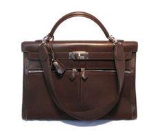 Hermes Brown Box Calf 40cm Lakis Kelly Bag - Satchel $13,500