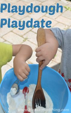 Work those hand muscles and keep your kiddos happily engaged by hosting a playdough playdate