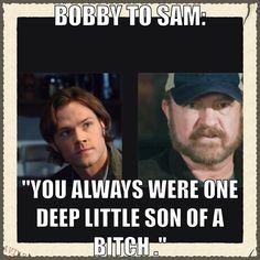Sam and Bobby Bobby Singer Supernatural, Supernatural Imagines, Supernatural Tv Show, Winchester Boys, Winchester Brothers, Bobby Singer Quotes, Cw Tv Series, Supernatural Pictures, Super Natural