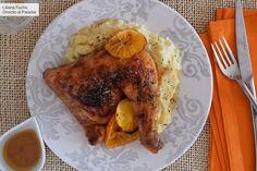 Pollo al horno glaseado con mandarina, vermut y miel: receta para un plato de lujo sin complicaciones Pollo Chicken, Bon Appetit, French Toast, Recipies, Eat, Cooking, Breakfast, Tamales, Kitchen Organization