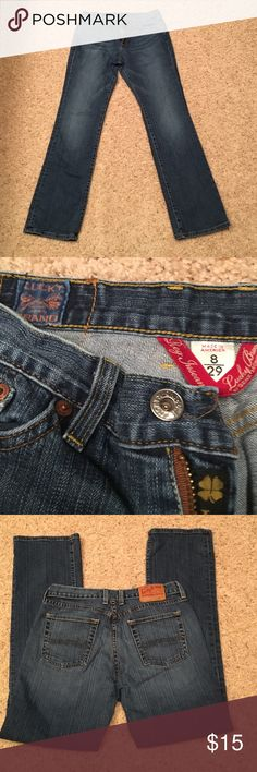 Lucky Brand jeans reg. Inseam made in USA Lucky Brand jeans regular inseam made in the USA 8/29 Lucky Brand Jeans Straight Leg