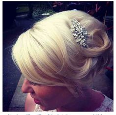 Pretty wedding hair bling. EEC