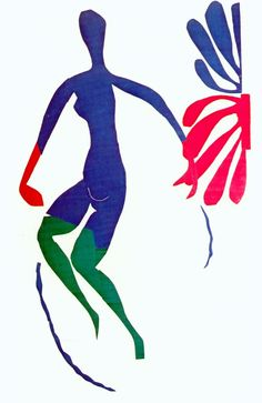 Blue Nude with Green Stockings by Henri Matisse, 1952