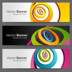 free vector banner gorgeous bright banner02