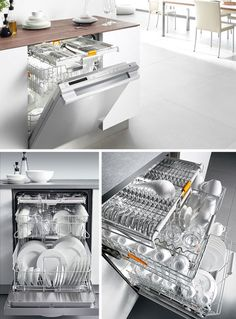 Miele dishwasher. A separate level just for silverware! Quietest and Reidel approved.