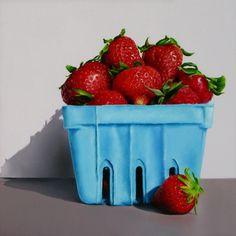 Strawberries, painting by artist Oriana Kacicek