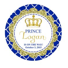 Royal Prince Favor Tags