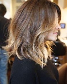 Balyajlı Omuz Hizası Saç Modelleri