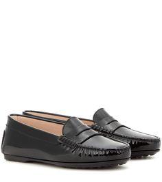 Schwarze Loafers Gomma aus Lackleder