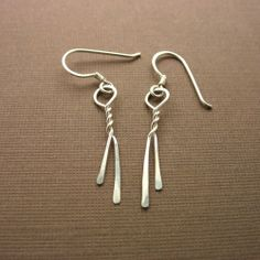Intertwining Ribbons Sterling Silver Earrings by winsomecreations, $21.00