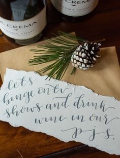 """DIY Coupons: """"Let's binge on TV shows and drink wine in our PJs."""""""